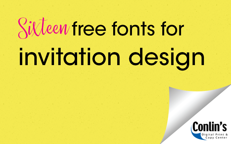 16 Free Fonts for Invitation Design
