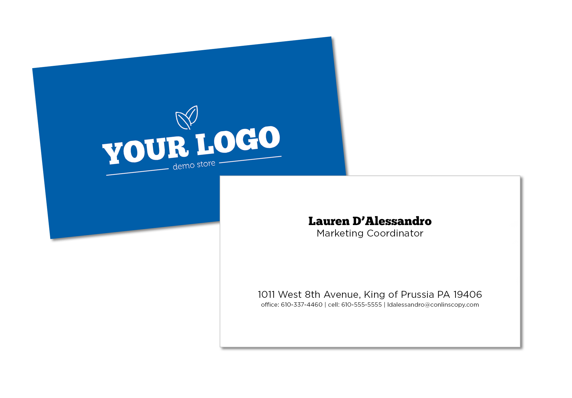 5 tips for business card design plus free template download pssty our standard business card design template reheart Image collections