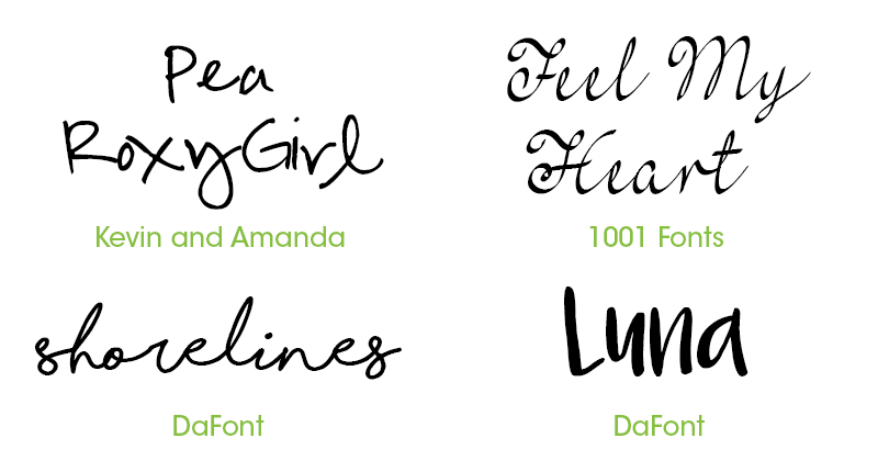 Handwritten Invitation Fonts