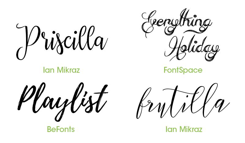 Popular Fonts For Wedding Invitations: 16 Free Fonts For Invitation Design