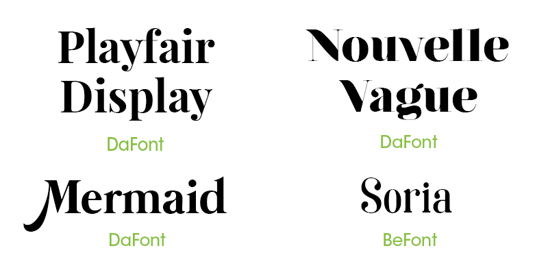 Serif Invitation Fonts
