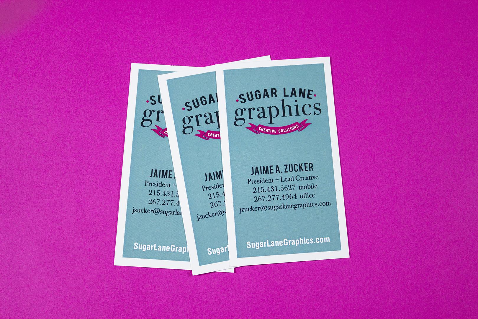 sugar lane graphics business card