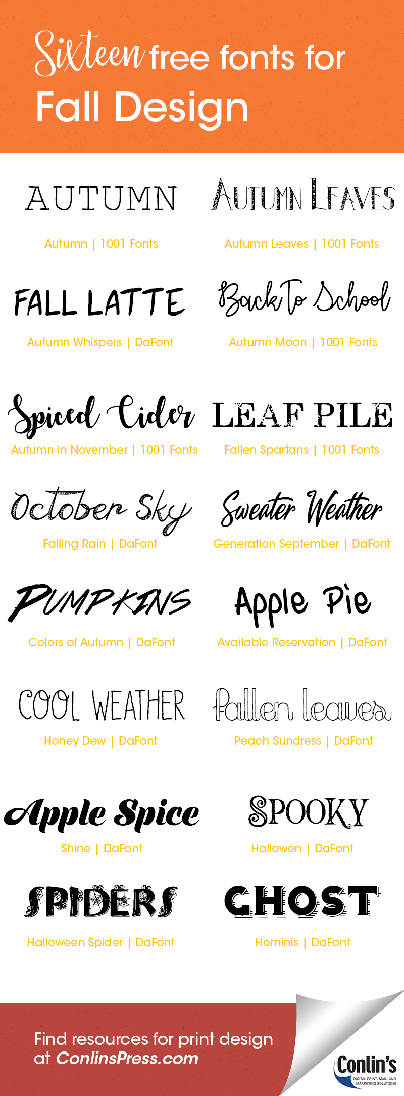16 Free Fonts for Fall Design |