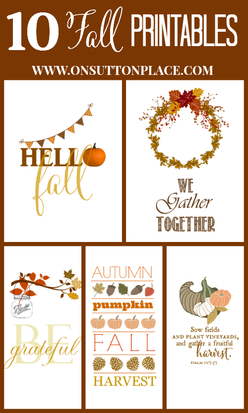 Printable Fall Art