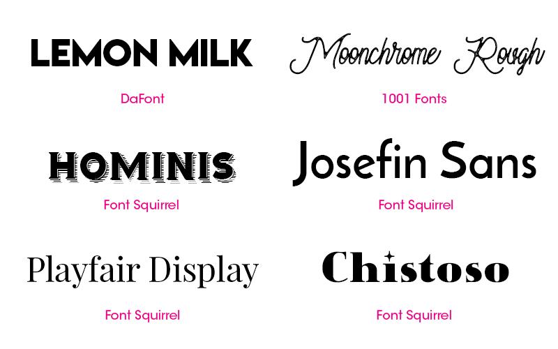16 Free Fonts for Invitation Design |