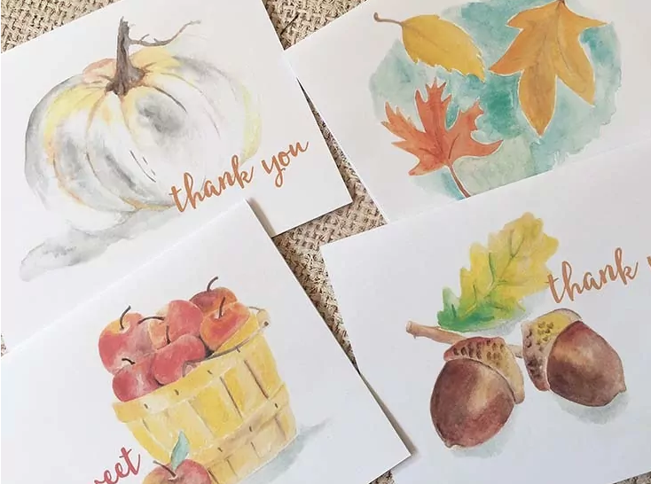 Fall Watercolor Printables